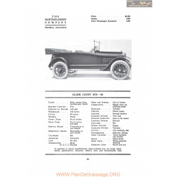 Bartholomew Glide Light Six 40 Fiche Info 1917