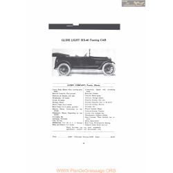 Bartholomew Glide Light Six 40 Touring Car Fiche Info Mc Clures 1916