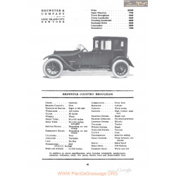 Brewster Country Brougham Fiche Info 1918
