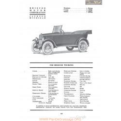 Briscoe 1920 Touring Fiche Info 1920
