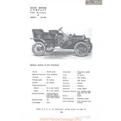 Buick 10 Toy Tonneau Fiche Info 1910
