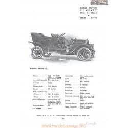 Buick 17 Fiche Info 1910