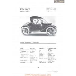 Cartarcer R Roadster Fiche Info 1912