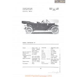 Cartercar S Fiche Info 1912
