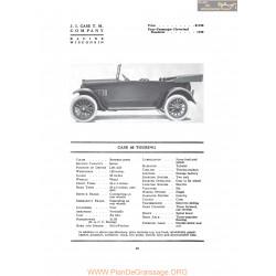 Case 40 Touring Fiche Info 1917