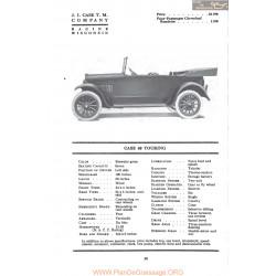 Case 40 Touring Fiche Info Mc Clures 1917