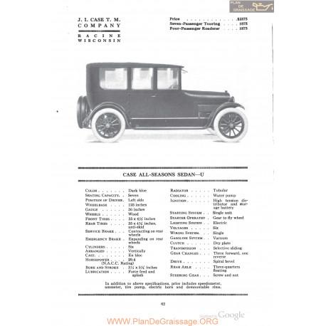 Case All Seasons Sedan U Fiche Info 1918
