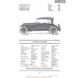 Chandler Roadster Fiche Info 1918