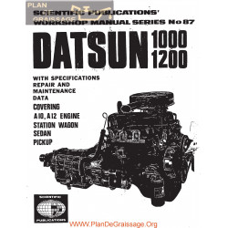 Datsun 1000 1200 A10 A12 Engine Service Manual