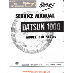 Datsun 1000 B Vb 10 Series Service Repair Manual