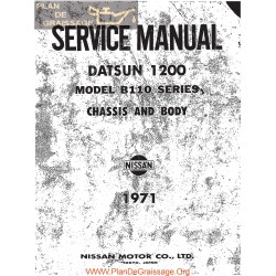 Datsun 1200 B110 1971 1972 Chassis & Body Repair Manual