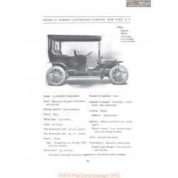 Clement Bayard Sidney B Bowman Model Clement Bayard Seven Persons Fiche Info 1907