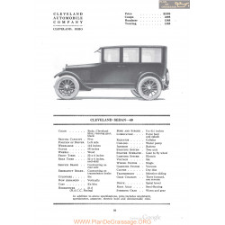 Cleveland Sedan 40 Fiche Info 1920