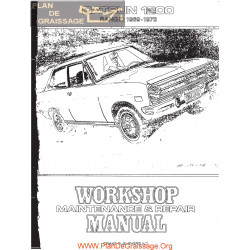 Datsun 1200 B110 Series 1969 1973 Service Repair Manual