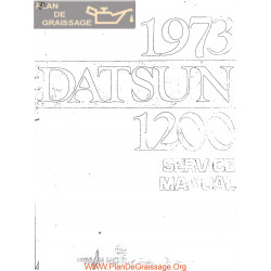Datsun 1200 B110 Series 1973 Service Repair Manual