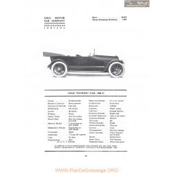 Cole Touring Car 860g Fiche Info 1916