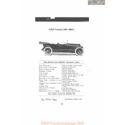 Cole Touring Car 860g Fiche Info Mc Clures 1916