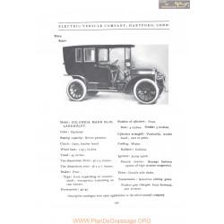 Columbia Hartford Mark Xlix Landaulet Fiche Info 1907