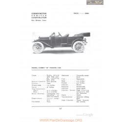 Corbin 30 Touring Fiche Info 1912