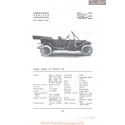 Corbin 40 Touring Fiche Info 1912