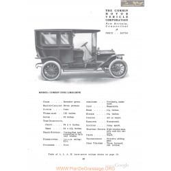 Corbin Xviii Limousine Fiche Info 1910