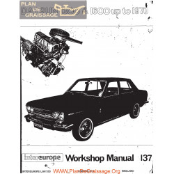 Datsun 1300 1600 L13 L16 1970 Workshop Manual
