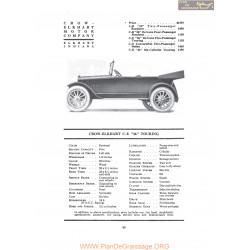 Crow Elkhart Ce 36 Touring Fiche Info 1919