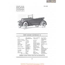 Crow Elkhart Cloverleaf 33 Fiche Info 1917
