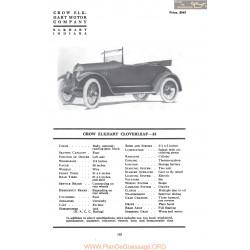 Crow Elkhart Cloverleaf 33 Fiche Info Mc Clures 1917