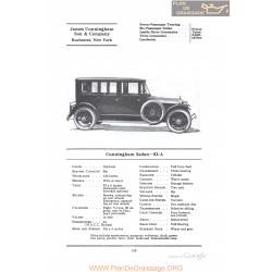Cunningham Sedan 82a Fiche Info 1922