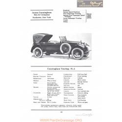 Cunningham Touring 91a Fiche Info 1922
