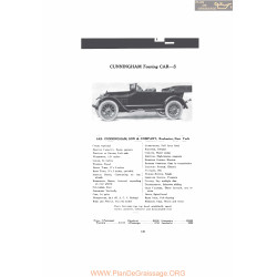 Cunningham Touring Car S Fiche Info 1916 V2