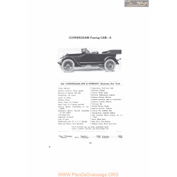 Cunningham Touring Car S Fiche Info Mc Clures 1916