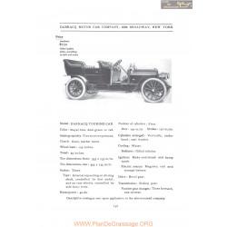 Darracq Touring Fiche Info 1907