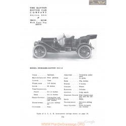 Dayton Stoddard 10c4 Fiche Info 1910