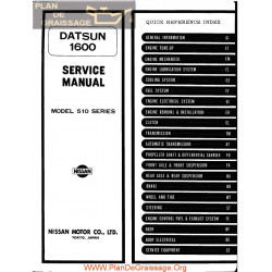 Datsun 1600 Model 510 1973 Series Service Manual