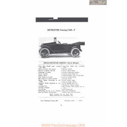 Detroiter Touring Car F Fiche Info Mc Clures 1916