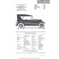 Dixie Flyer Touring H Fiche Info 1922