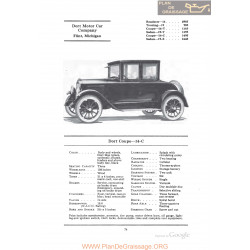 Dort Coupe 14c Fiche Info 1922