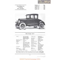 Dort Coupe 14t Fiche Info 1922