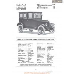 Dort Five Passenger Fourseason Sedan Model 15 S Fiche Info 1920