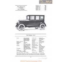 Dort Sedan 19s Fiche Info 1922
