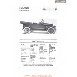 Dort Touring 9 Fiche Info 1917