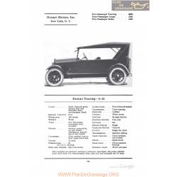 Durant Touring A22 Fiche Info 1922