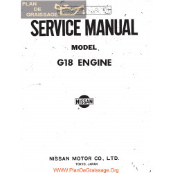 Datsun 1800 G18 Engine Service Manual