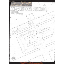 Datsun 180b 610 Series Service Manual