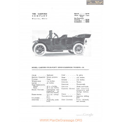 Garford Four Forty Seven Passenger Touring G8 Fiche Info 1912