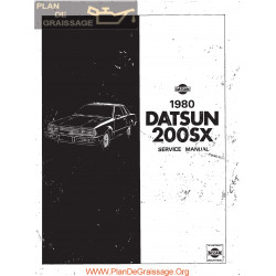 Datsun 200sx S110 1980 Service Manual