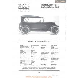Hackett Four Touring Al Fiche Info 1918