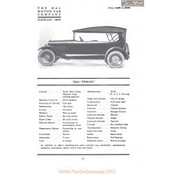Hal Twelve Fiche Info 1917
